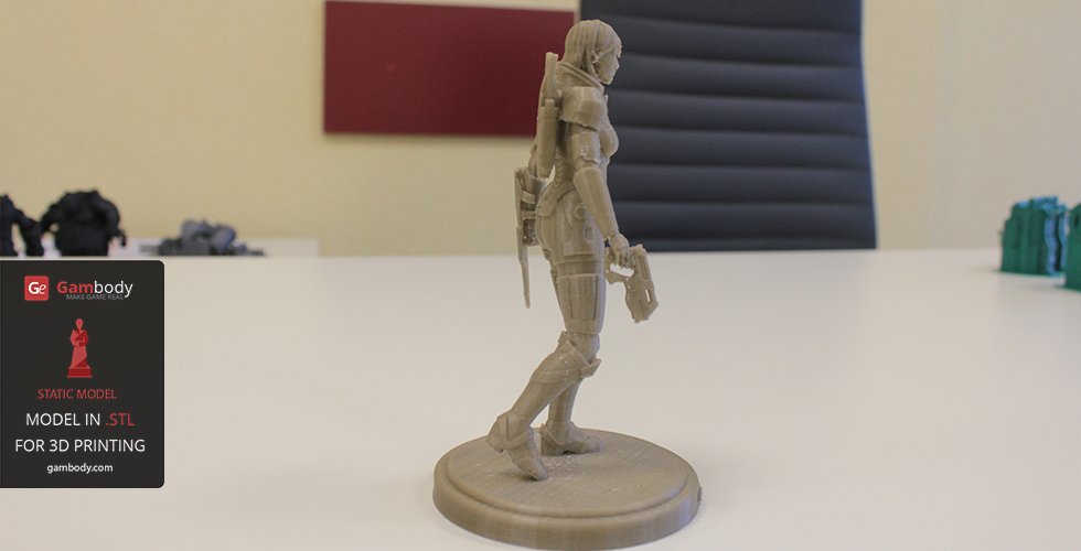Female Shepard 3d Printing Model From Mass Effect 3d