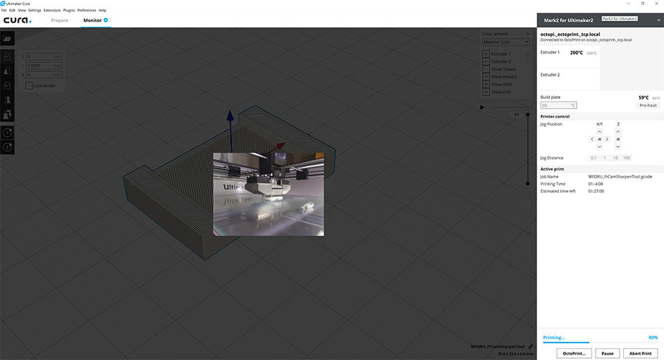 Octoprint Cura Plugin - Adjust Camera Size - Cura + plugins