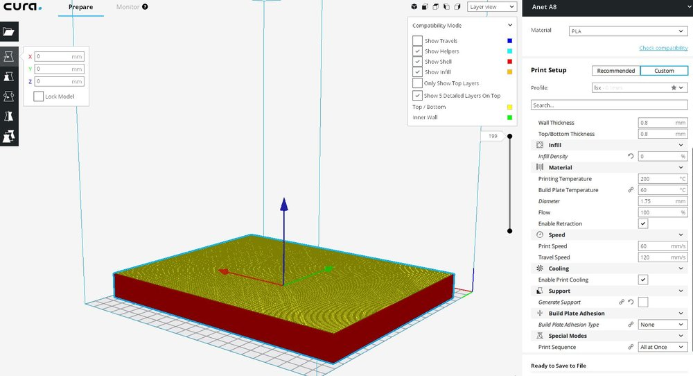print in cura looks different than in sketchup - Cura +
