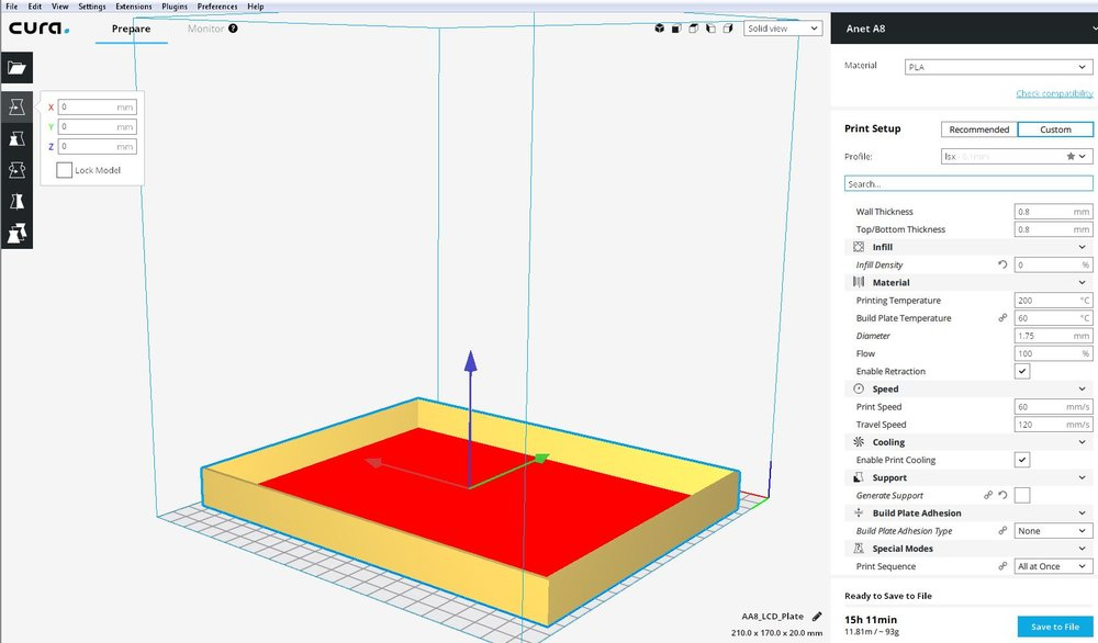 print in cura looks different than in sketchup - Cura + plugins
