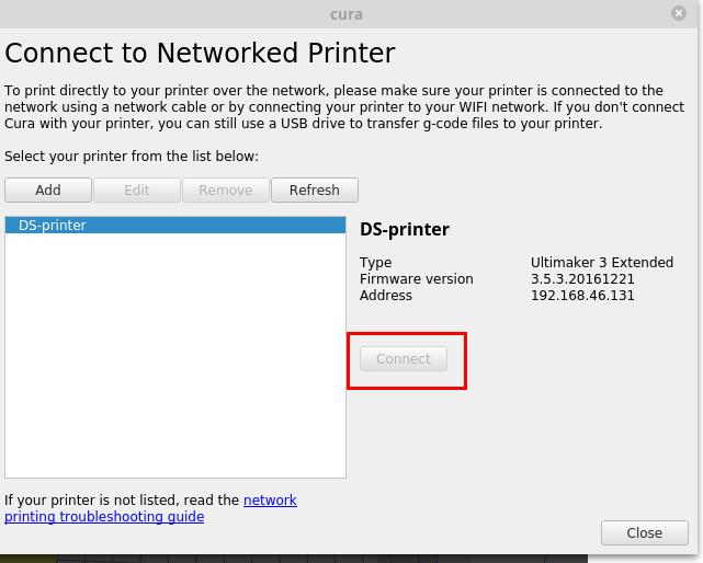 Printer connection problems - Cura + plugins - Ultimaker