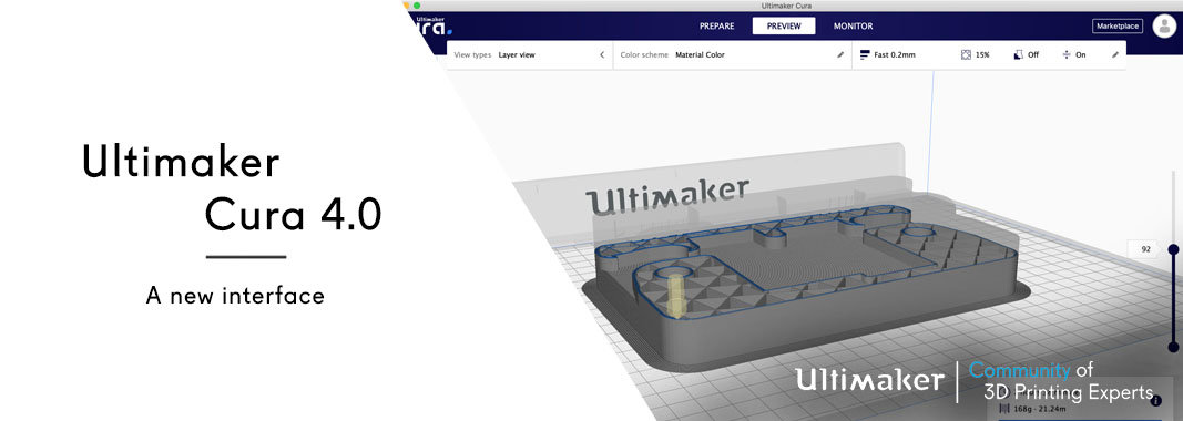 Ultimaker Cura | a new interface