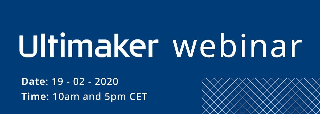 February 19 | Ultimaker webinar: Paving the way to distributed manufacturing