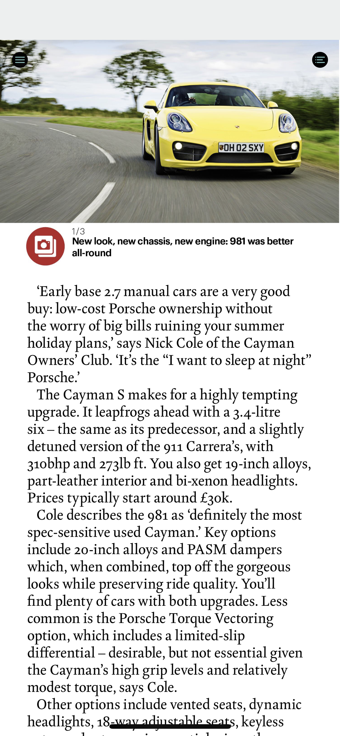 CAR Magazine Article