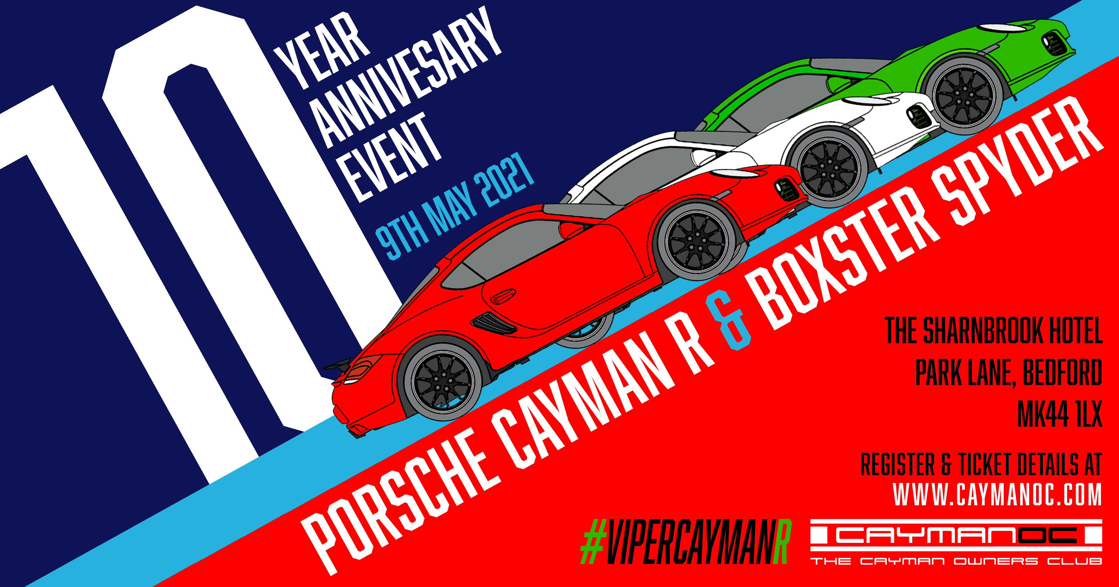 10 year Anniversary Cayman R/987 Spyder meet May 2021.