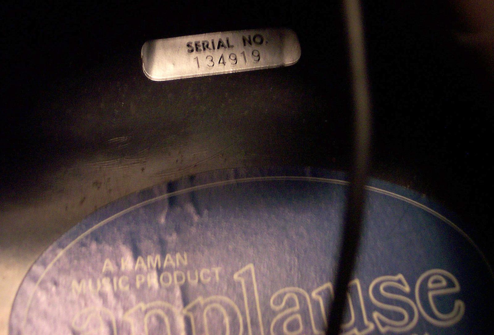 Applause Aa 31 Guitar Serial Numbers