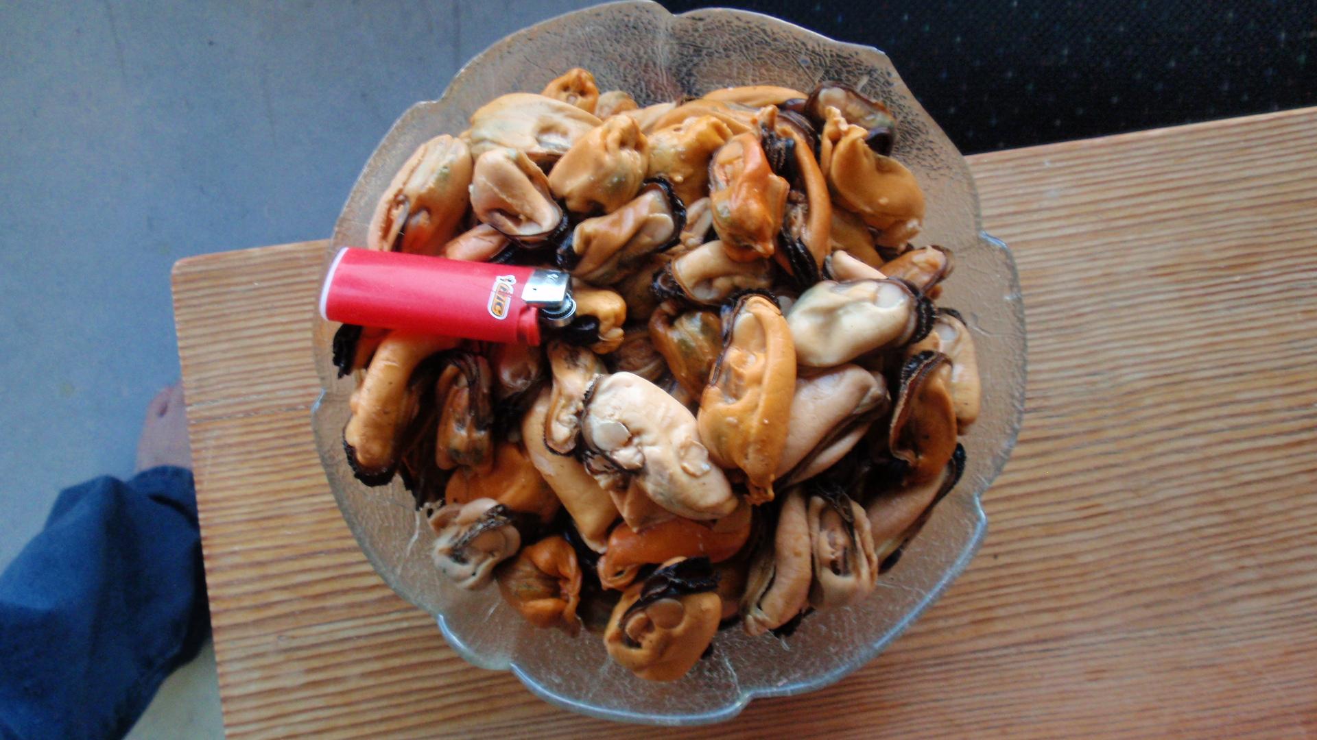 frysta musslor utan skal